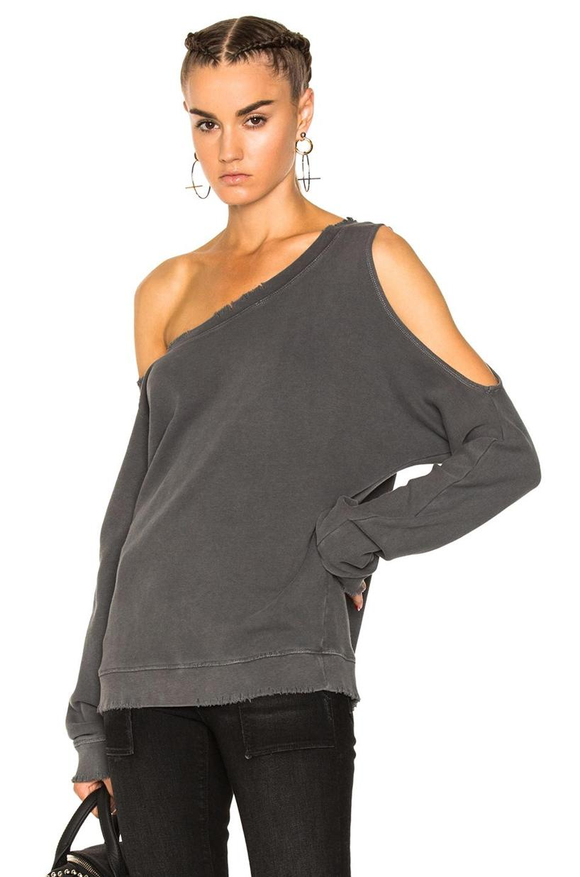 c77e58bcd834bf Rta Willow Destroyed Cotton Sweatshirt In Space Grey