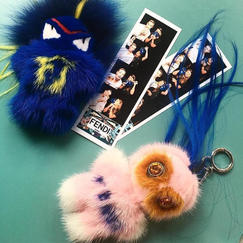 c78aef3f1a FENDI Fendi Blue Fendirumi Bug-Kun Bag Charm