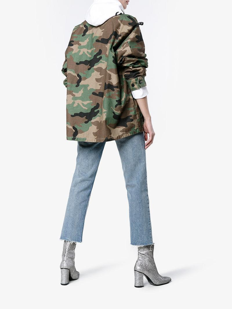 eae2f851dd19a Wtaps Camouflage Military Jacket In Brown | ModeSens