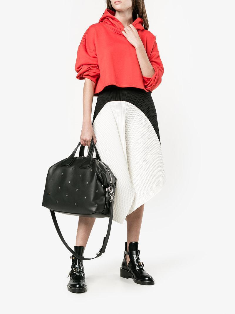 4a2d287a529a9 Givenchy Micro 'Nightingale' Crossbody With Crosses In Black | ModeSens