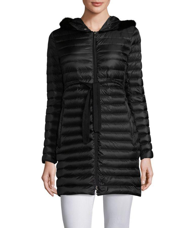 588b85323 Moncler Barbel Quilted Puffer Coat With Fur Trim
