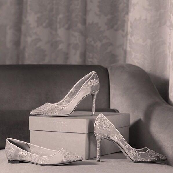 fe4f2f130c1 Jimmy Choo Romy 85 White Lace Pointy Toe Pumps In Neutrals