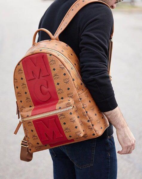 aee07f323d0629 Mcm Stark Logo Stripe Backpack In Visetos In Co