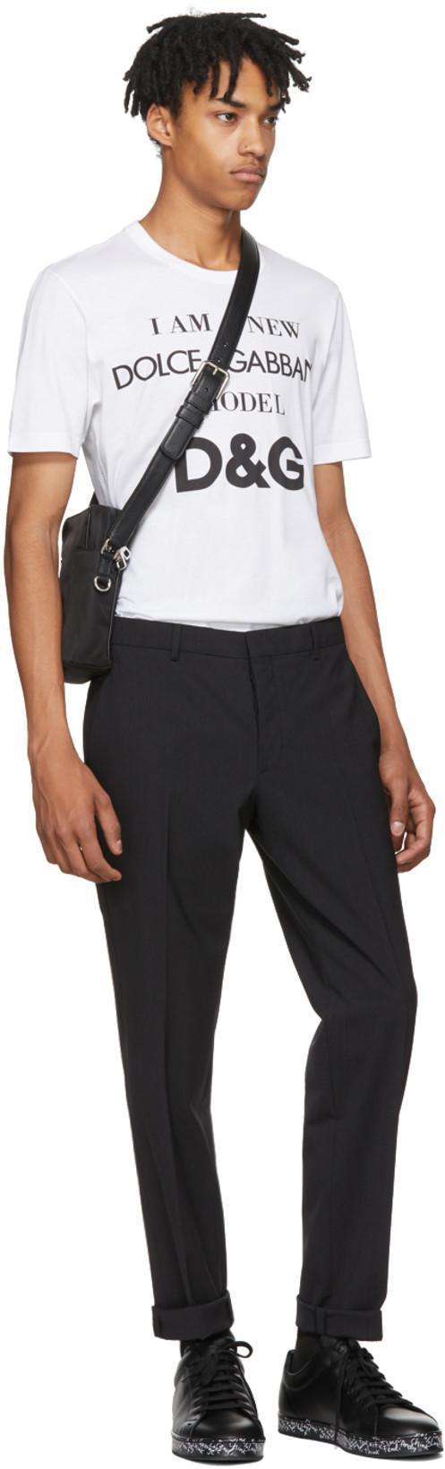 DOLCE   GABBANA Dolce And Gabbana Black Varsity Logo Camera Bag in 8B956  Black c077bcfd0ae41
