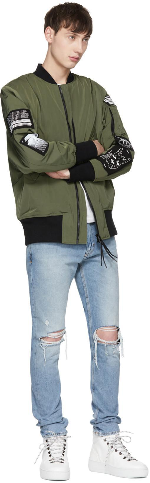2642d83ce Green Sob Patches Bomber Jacket