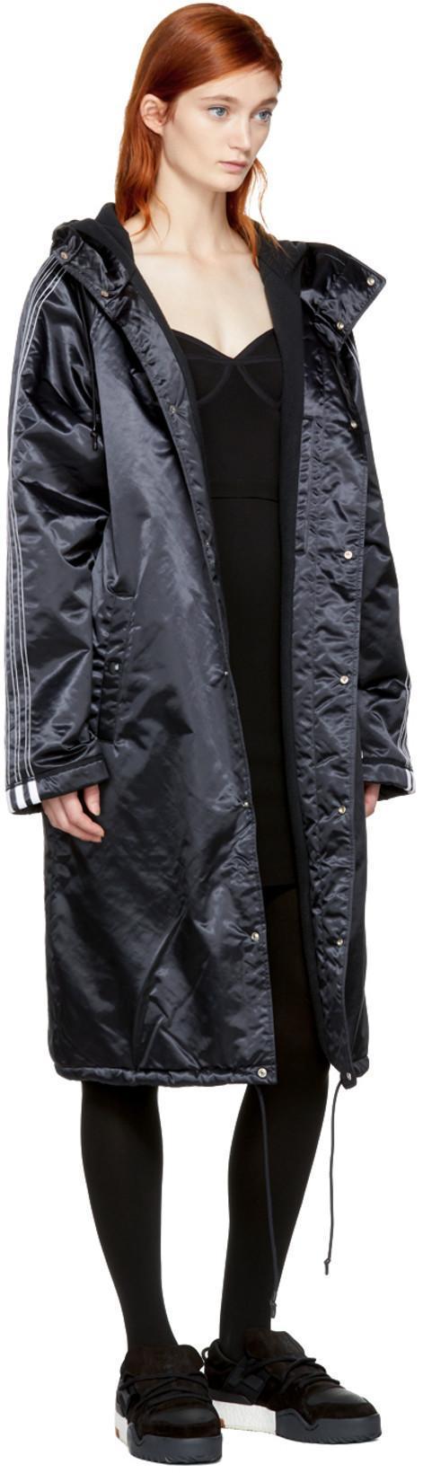 1758c90bc592 ADIDAS ORIGINALS BY ALEXANDER WANG Adidas By Alexander Wang Stadium Jacket  In Black in Black