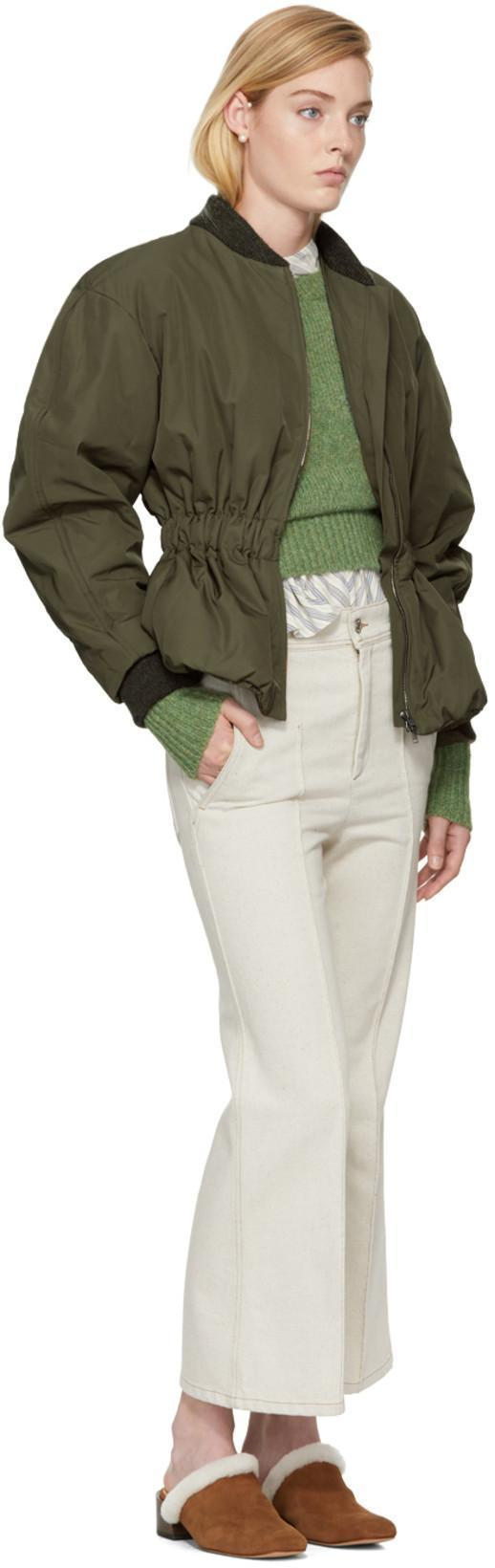 5e6899cf3 Isabel Marant Dex Short Bomber-Style Jacket In Green | ModeSens