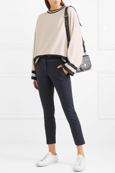 b13df31bf5a0 Prada PionniÈRe Two-Tone Leather Shoulder Bag In Crimson | ModeSens
