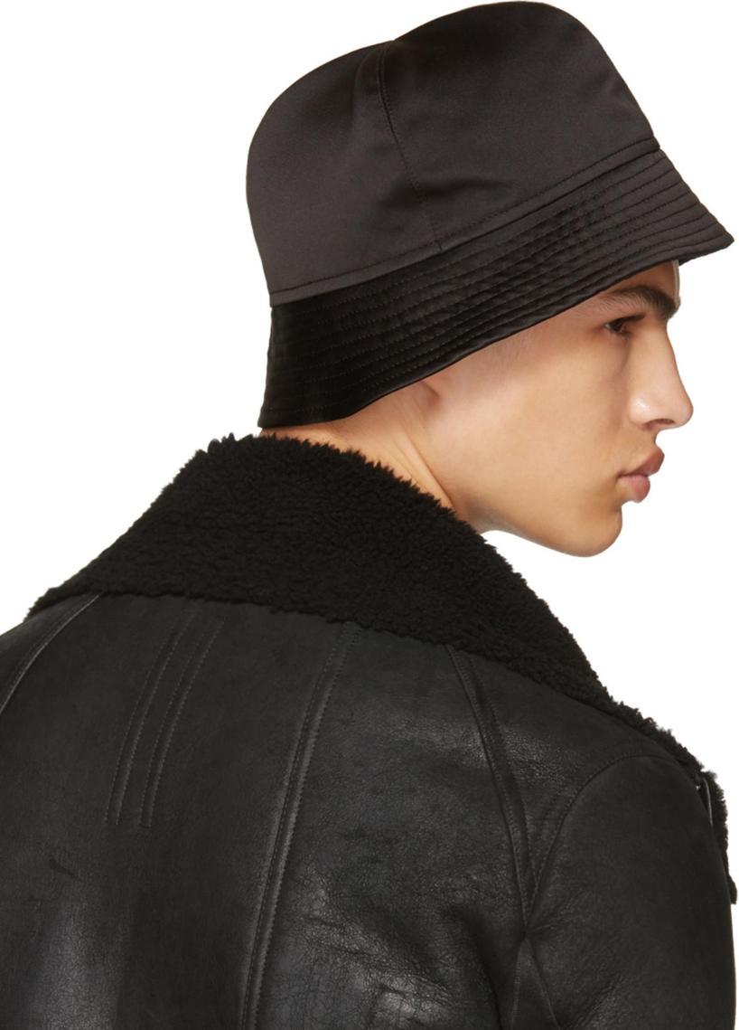 cbbc8fbea24 Rick Owens Black Gilligan Bucket Hat