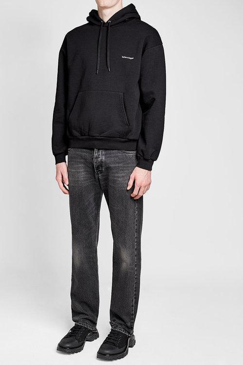 fed7a8a154e727 Balenciaga Copyright Logo Pullover Hoodie In Black | ModeSens