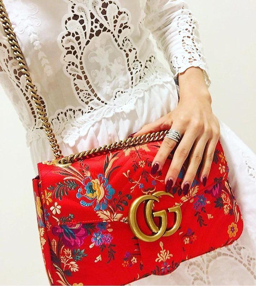 2b5890ffc5b0d5 Gucci Gg Marmont Medium Jacquard Shoulder Bag, Green Metallic | ModeSens