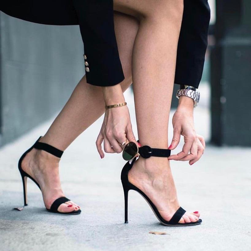 9eccbea2e4d Gianvito Rossi Portofino Suede Ankle-Strap Sandals In Praline