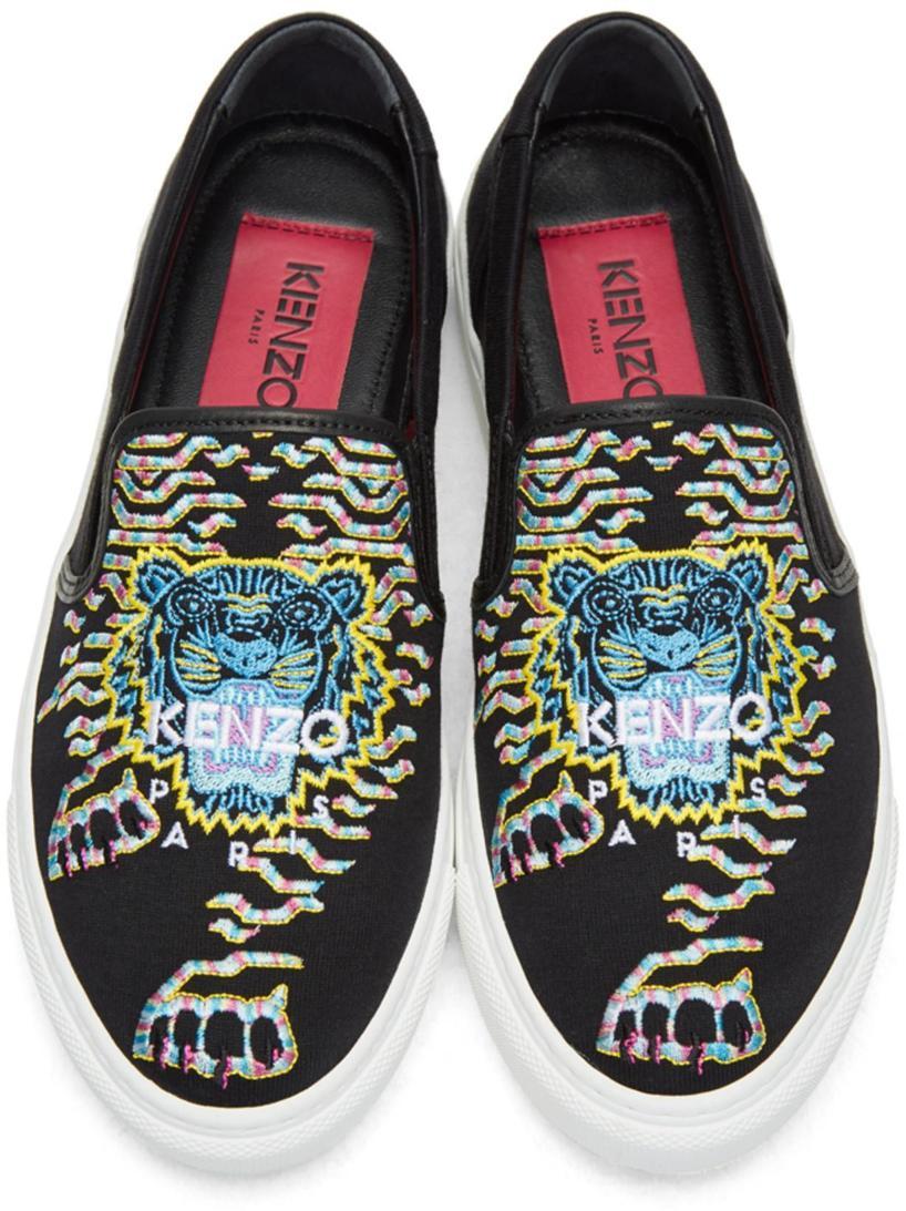 ba4b4c7e Kenzo K Skate Embroidered Slip-On Sneaker In Black | ModeSens