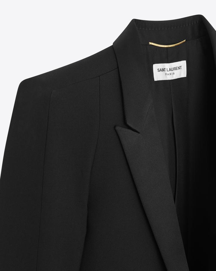 9df82b66ee Saint Laurent Tux Jacket With Square-Cut Shoulders In Black ...