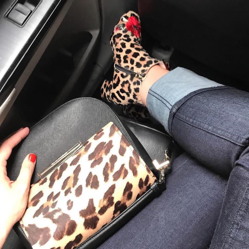 a350e26ab5a7 Kate Spade Langton Amaretto Floral & Leopard-Print Calf Hair Booties ...