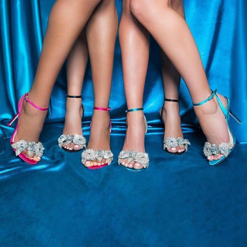 1ff2f5e59ec Sophia Webster Lilico Crystal-Embellished Leather Sandals In Cerise ...