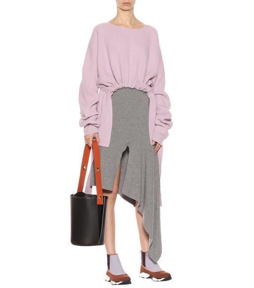 Danse Lente Lorna Mini Two-Tone Leather Bucket Bag In Black  47212604a5dac
