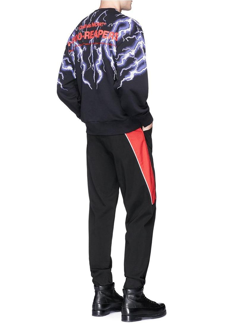 9acb2c1d3 Alexander Wang Graphic Patch Lightning Print Sweatshirt In Black ...