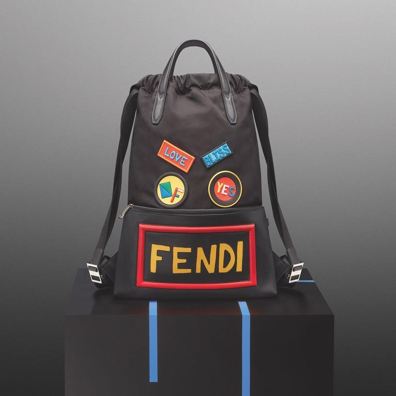 97a71f00cfb Fendi Patch Nylon Backpack W/ Leather Pocket In Jbx Black | ModeSens