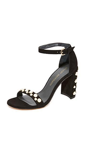 08991aa9397 Stuart Weitzman Suede Morepearls Sandals 65 In Black