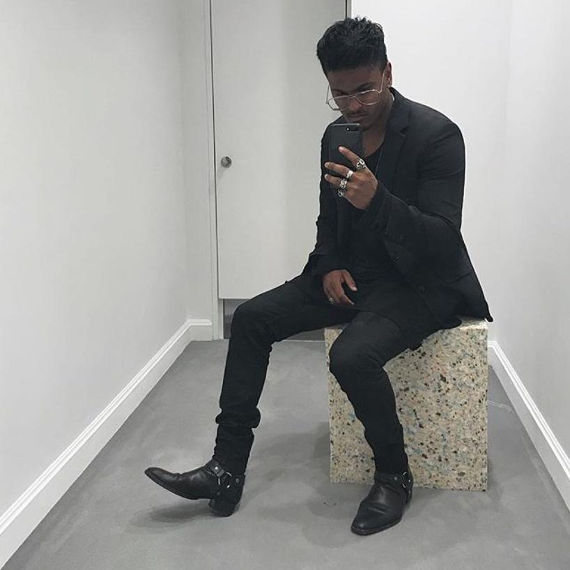 866b536cb978 Balenciaga Leather Harness Boot In Noir