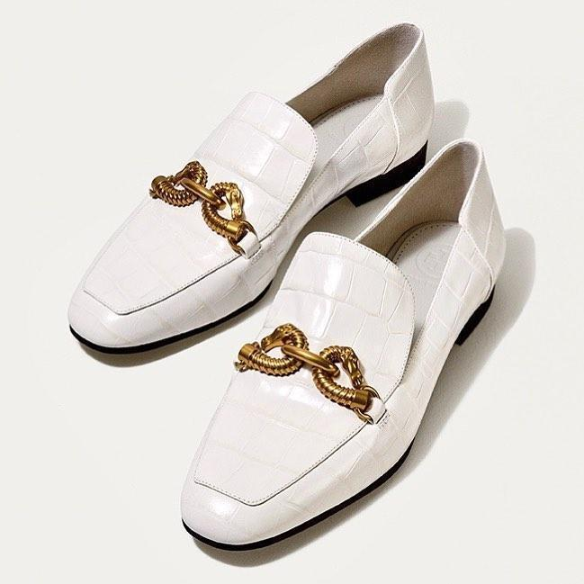 7f34afff0ee Tory Burch Jessa Leather Loafers In White
