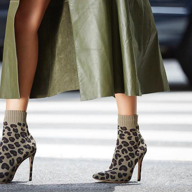 df111e2906bd GIANVITO ROSSI Sauvage 100 Leopard-Print Stretch-Knit Sock Boots in Brown