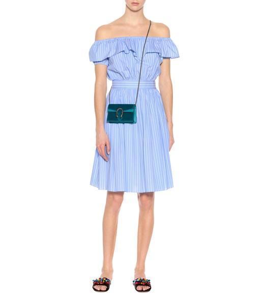 a95c35c6c2cd Gucci Super Mini Dionysus Velvet Shoulder Bag - Blue