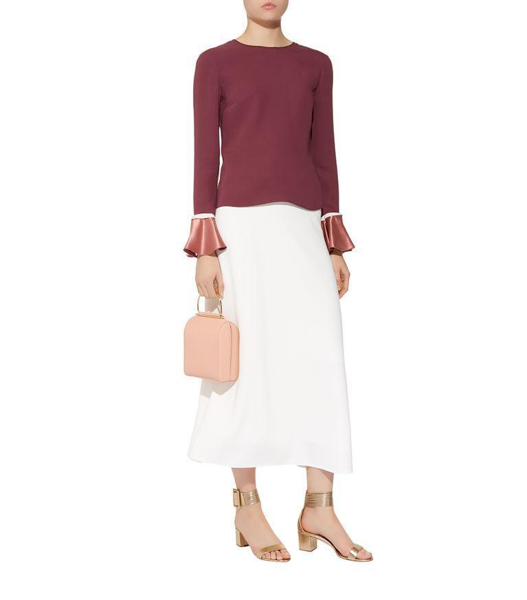 0fccd949d72 The Row Farrow Paneled Cady Maxi Skirt In White