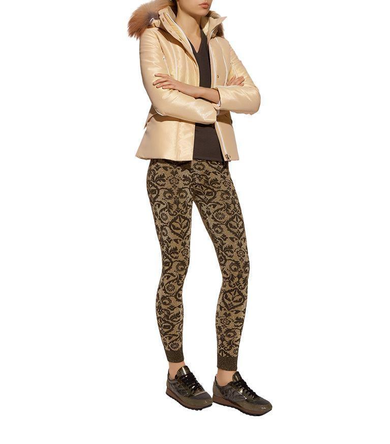Fendi Glitter Ski Jacket In Gold  bc01b3dd5