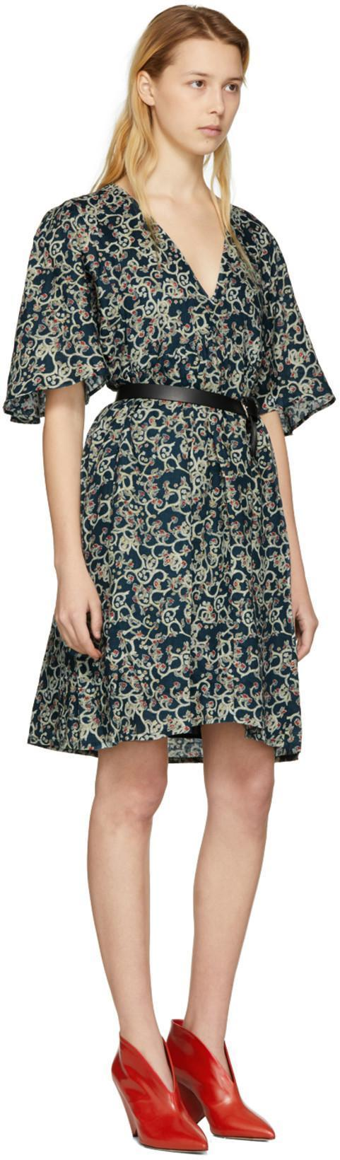 3f85bfe9ffc ETOILE ISABEL MARANT Isabel Marant Etoile Multicolor Talita Dress in Faded  Black