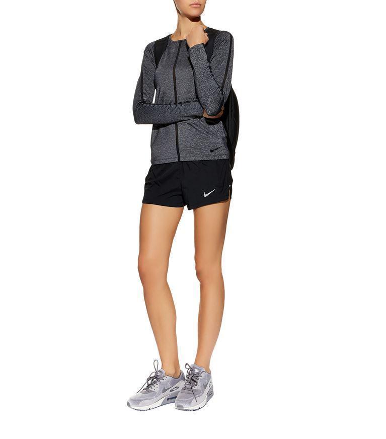 05607c7192 Nike Dry Eclipse Running Shorts In Black   ModeSens