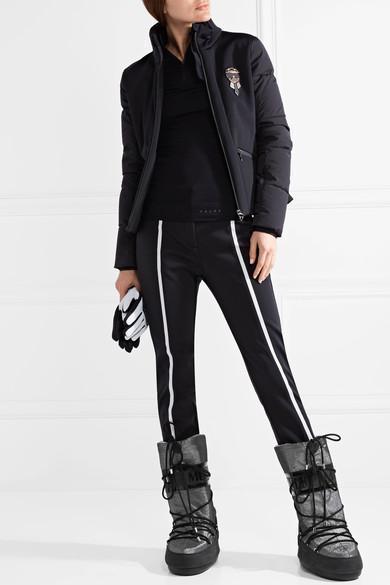 Fendi Karlito Embellished Quilted Down Ski Jacket In Black  ced8e3a0c