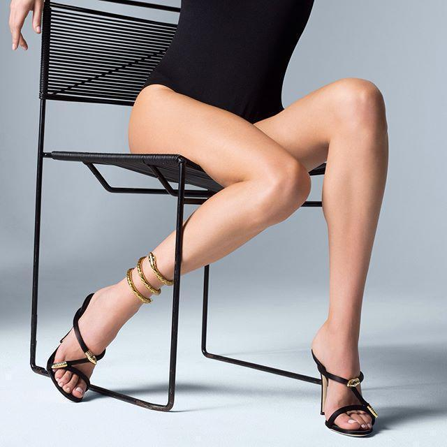 a17cf9e615f9 GIUSEPPE ZANOTTI - Satin Mule With Snake Detail And Anklet Aleesha in Multi