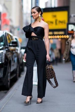 fd846ee3e2c JOHANNA ORTIZ Love Spell One-Shoulder Cutout Silk-Faille And Satin Jumpsuit  in Black