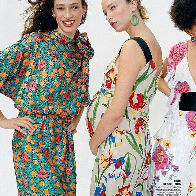7a99614707 Tory Burch Clarissa Floral Dress In Painted Iris | ModeSens