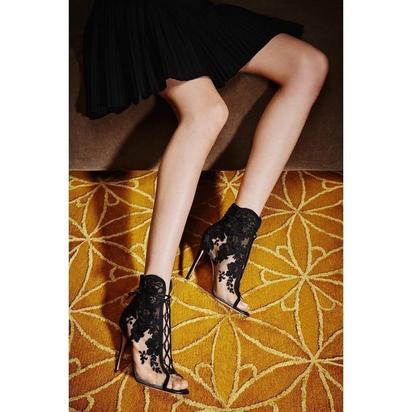 c149239c83 Gianvito Rossi Giada Lace & Mesh Ankle Boots In Black   ModeSens