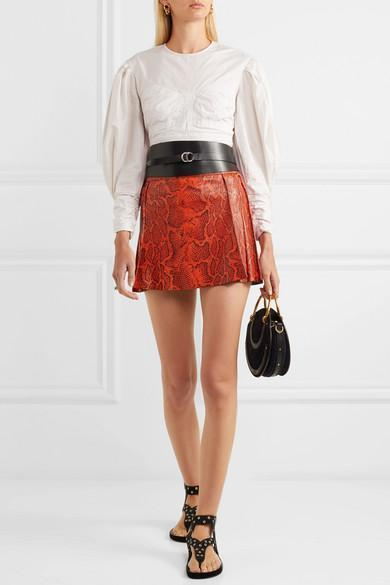 116fb1d7b76a Isabel Marant Cajou Leather Waist Belt In Black