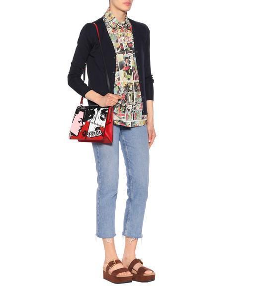 40609d61b370 Prada Light Frame Leather Shoulder Bag In Female