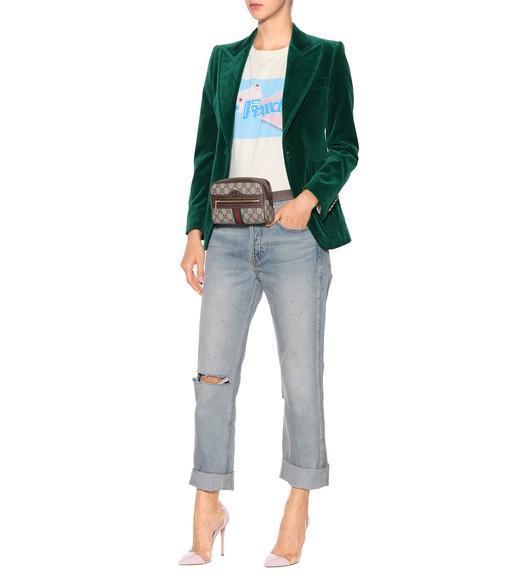 24c6565fd26d Gucci Multicolor Ophidia Gg Supreme Small Belt Bag In 8745 Brown ...