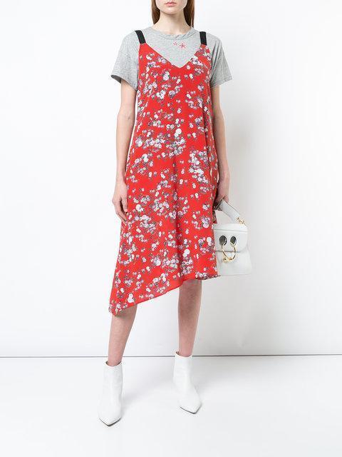 9a6bb73103cb0c Rag   Bone Zoe V-Neck Sleeveless Floral-Print Silk Dress In Red ...