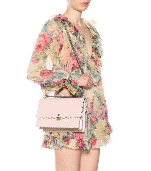 1a9c40ce9b ZIMMERMANN Melody Floating Ruffled Floral-Print Silk-Crepon Playsuit in  Beige Multi