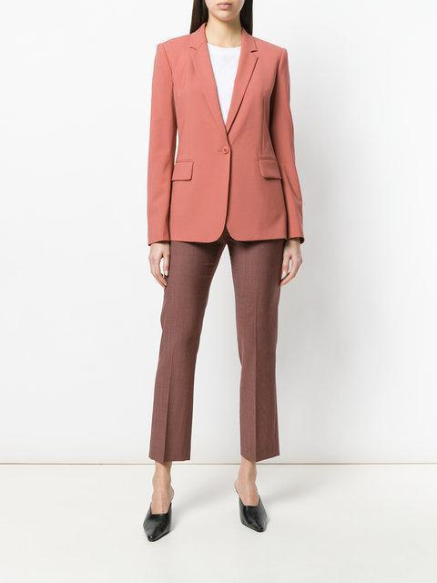 65460cedb0 Theory Essential One-Button Stretch-Wool Jacket In Pink | ModeSens
