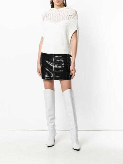 9d7bb2766348 Off-White For Walking Printed Leather Over-The-Knee Boots In White ...