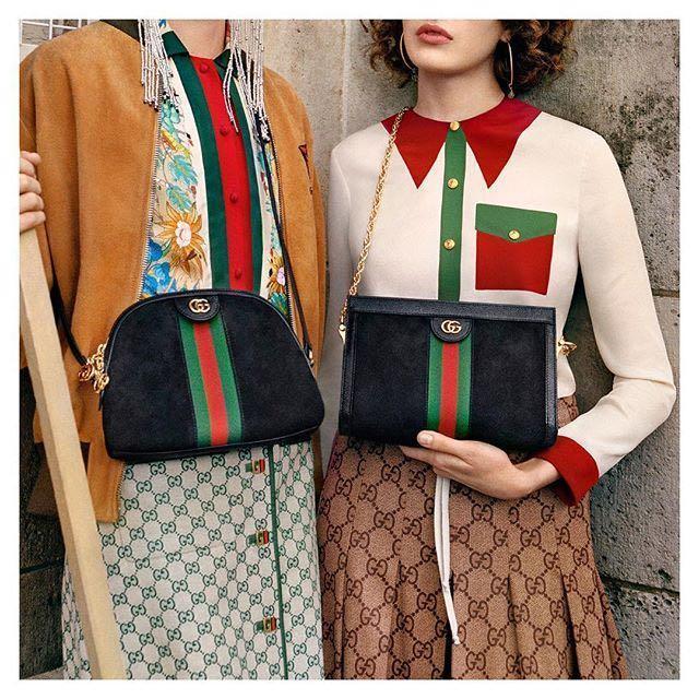 dc4e46c88 Gucci Linea Dragoni Suede Small Chain Shoulder Bag In Black Suede ...