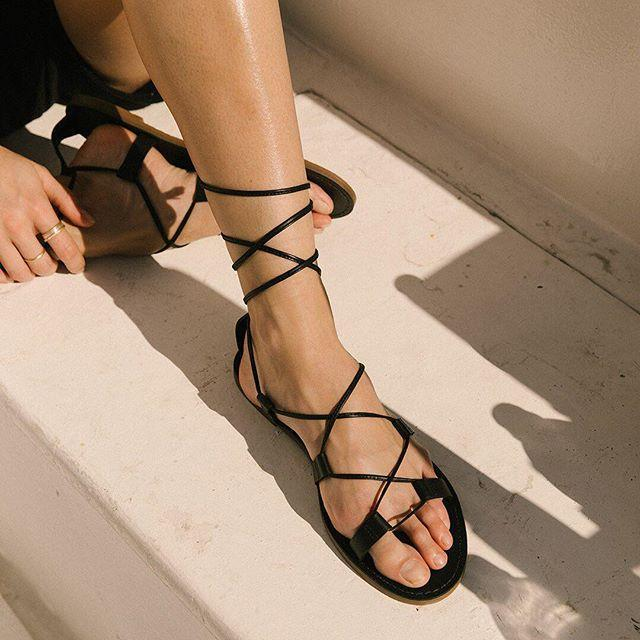 a7992e5cfb7d Madewell The Boardwalk Lace-Up Sandal In True Black