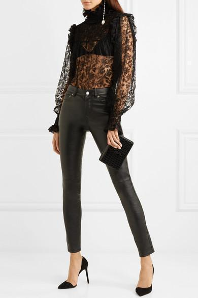72cf083315 Saint Laurent Monogramme Kate Toy Croc-Effect Leather Shoulder Bag ...