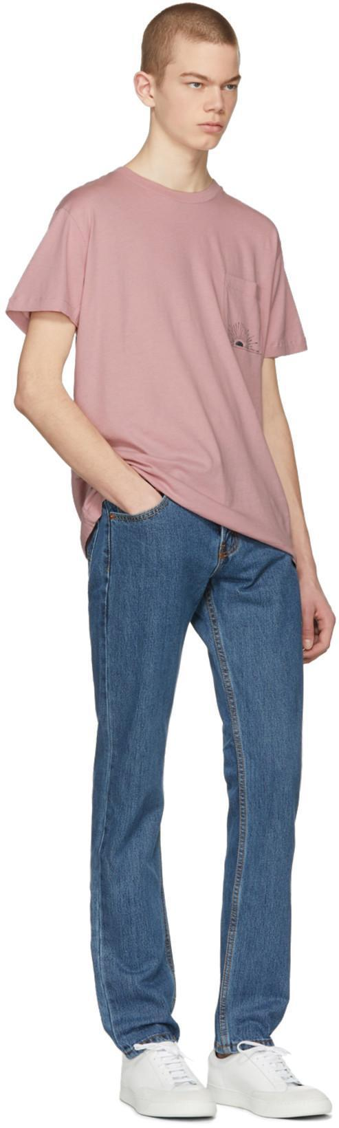 7ae664972e9 Levi S Levis Made And Crafted Pink Sun Pocket T-Shirt