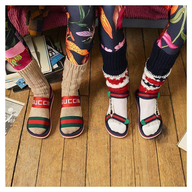 e0e8e62cbb5c Gucci Bedlam Logo-Strap Sandals In Blue