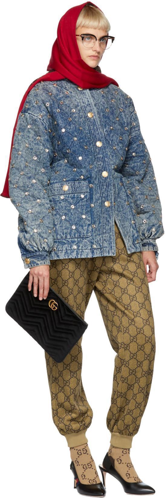 46188d3db Gucci Beige Gg Logo Lounge Pants | ModeSens